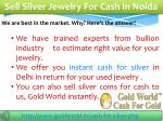 sell silver jewelry for cash in noida
