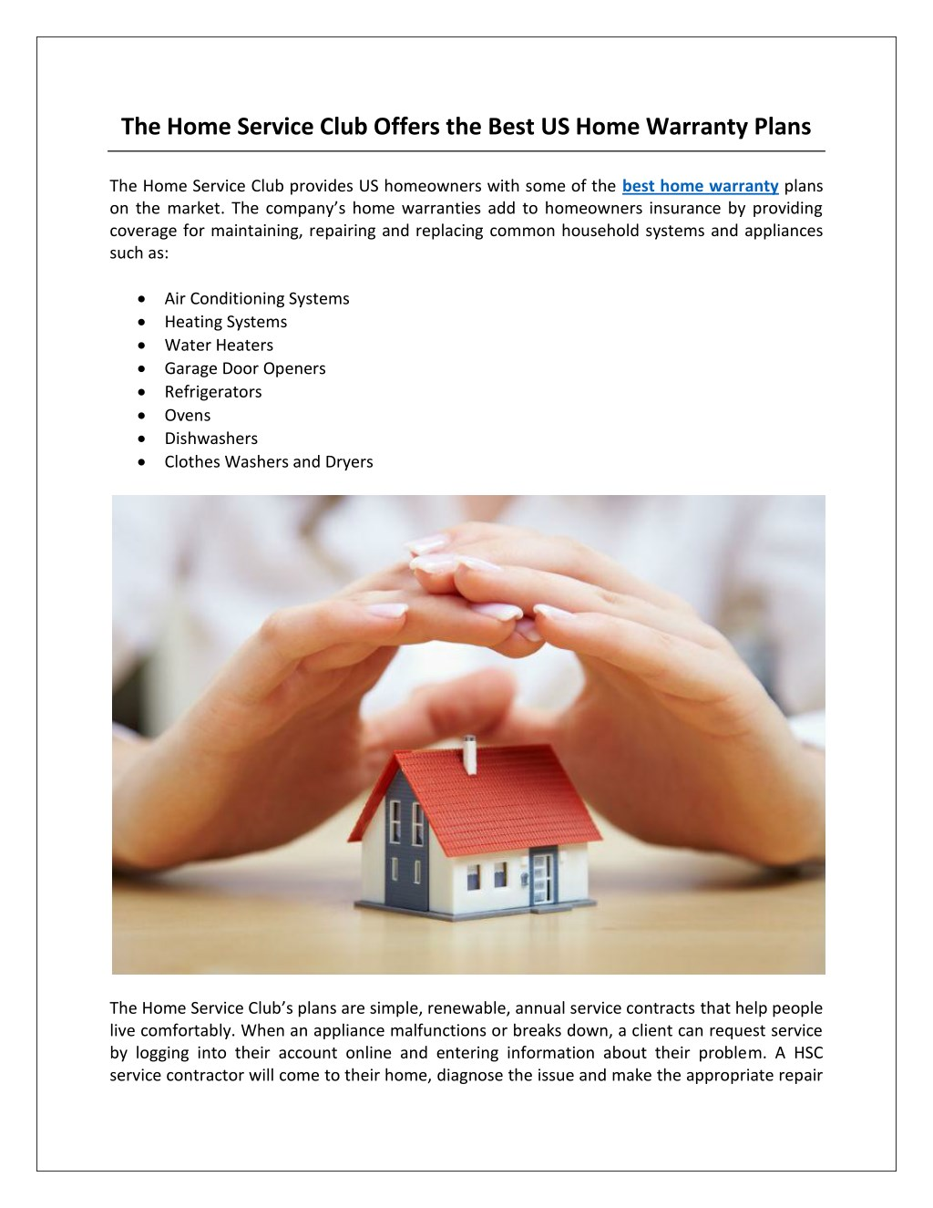 Ppt The Home Service Club Offers The Best Us Home Warranty Plans Powerpoint Presentation Id 7790228
