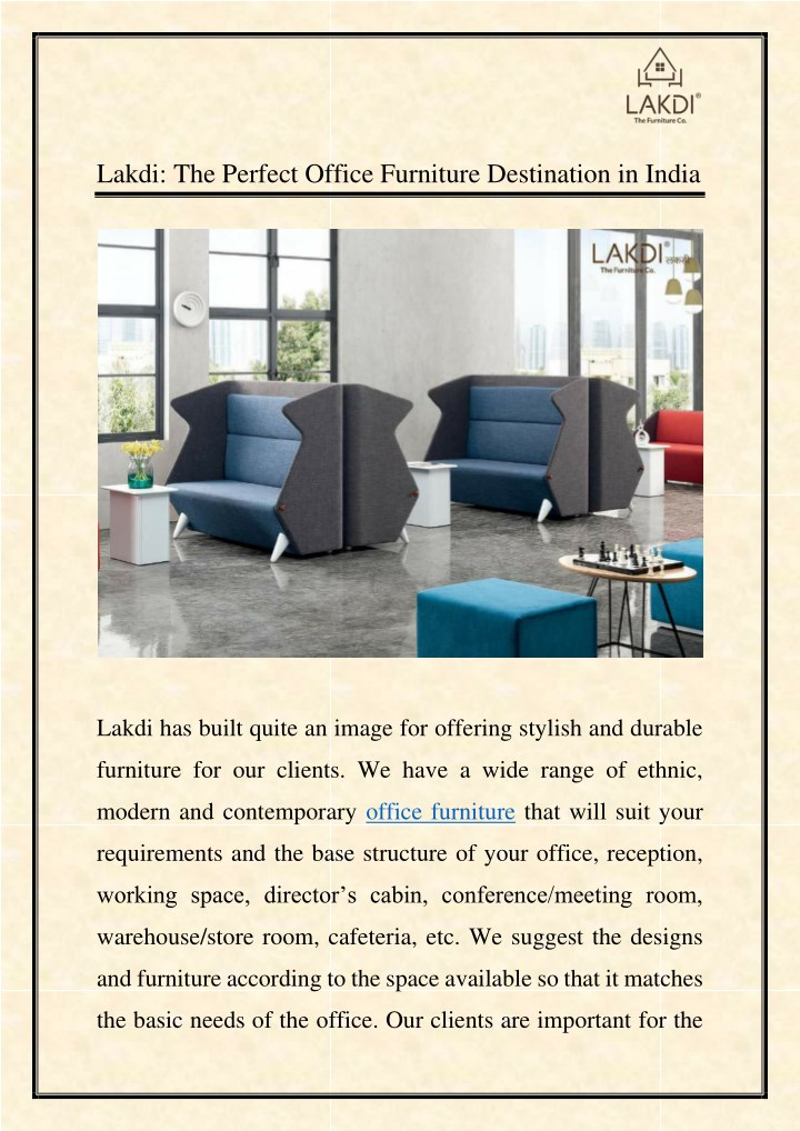 lakdi the perfect office furniture destination n.