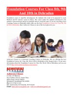 foundation courses for class 8th 9th and 10th