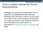 find a suitable commercial tenant representative
