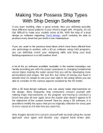 making your possess ship types with ship design