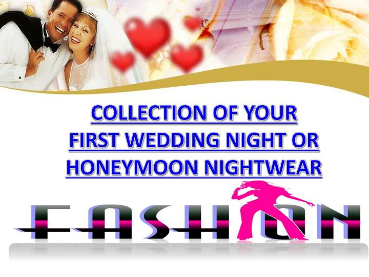 collection of your first wedding night n.