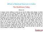 what is medical tourism in india 1