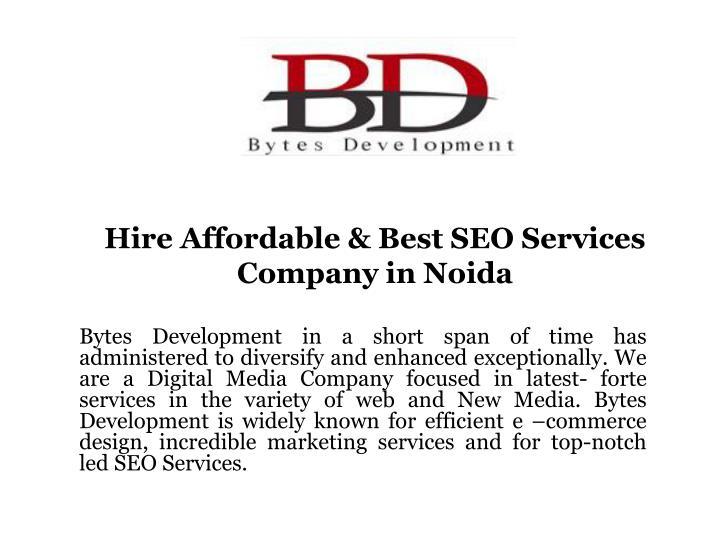 hire affordable best seo services company in noida n.