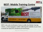 best mobile training centre