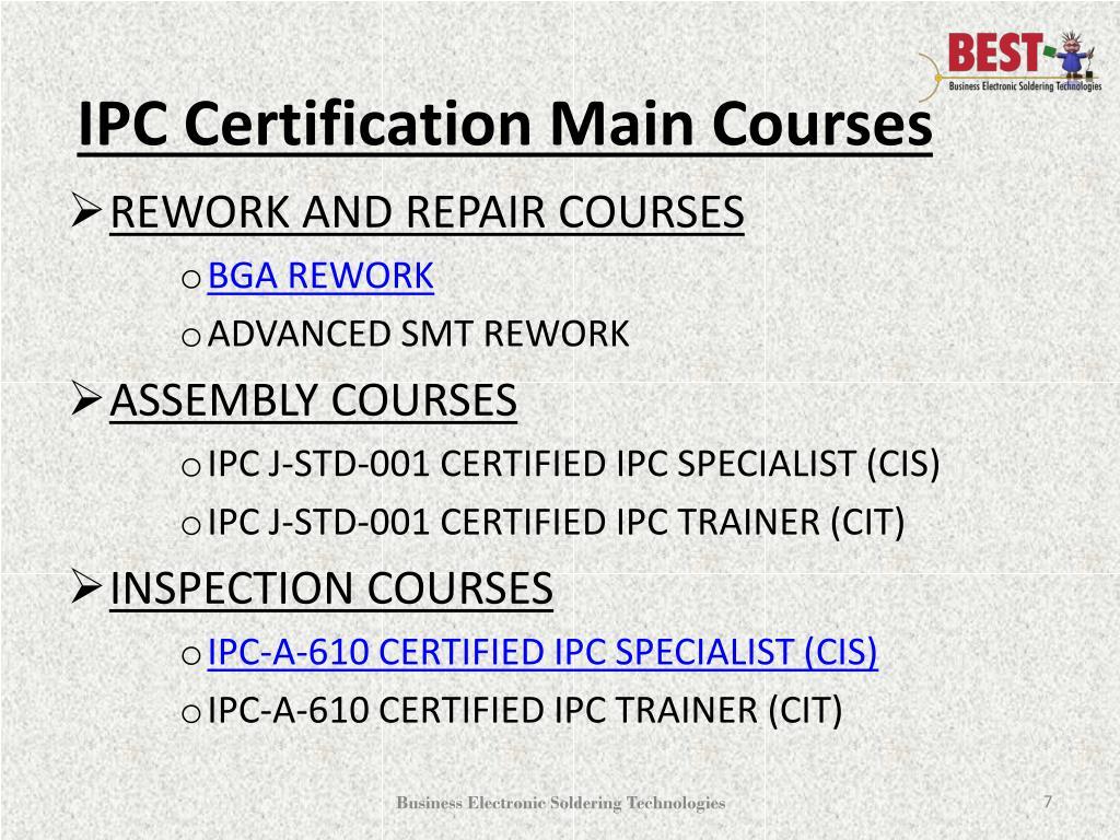 PPT - BGA Rework | Hand Soldering | IPC Certification - PPT