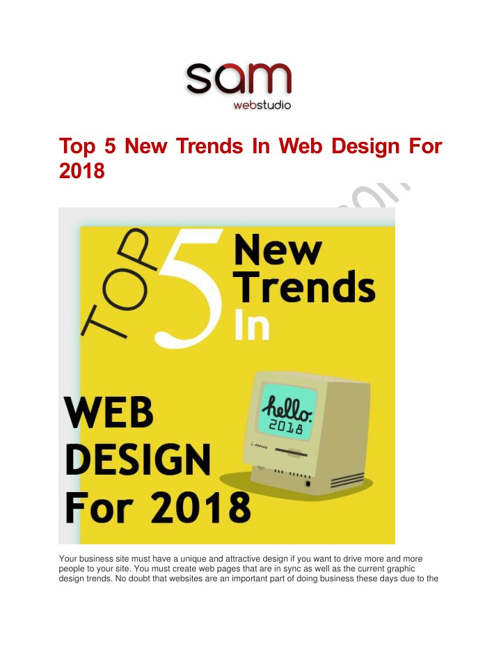 top 5 new trends in web design for 2018 n.