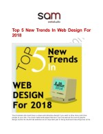 top 5 new trends in web design for 2018