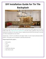 diy installation guide for tin tile backsplash