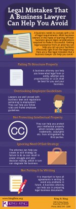 legal mistakes that a business lawyer can help