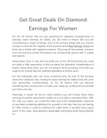 get great deals on diamond earrings for women