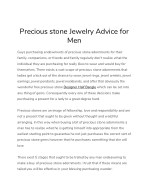 precious stone jewelry advice for men