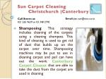 sun carpet cleaning christchurch canterbury