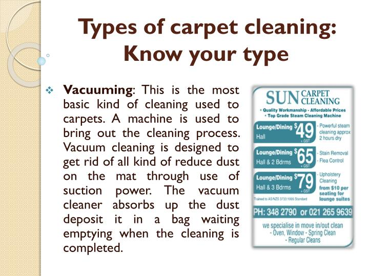 types of carpet cleaning know your type n.