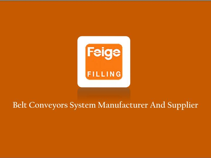 belt conveyors system manufacturer and supplier n.