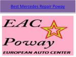 best mercedes repair poway