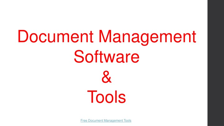 document management software tools n.