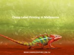 cheap label printing in melbourne