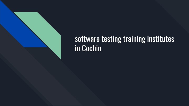 software testing training institutes in cochin n.