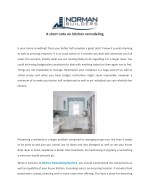 a short note on kitchen remodeling