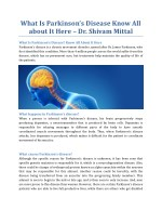 what is parkinson s disease know all about