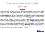 customize wallpaper supplier in delhi 1