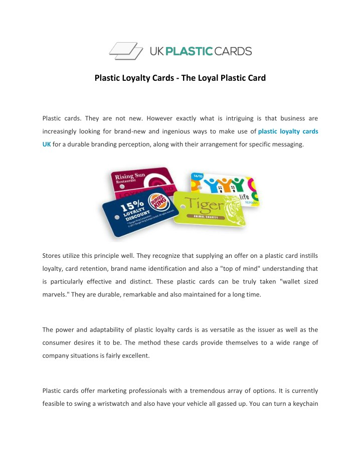plastic loyalty cards the loyal plastic card n.