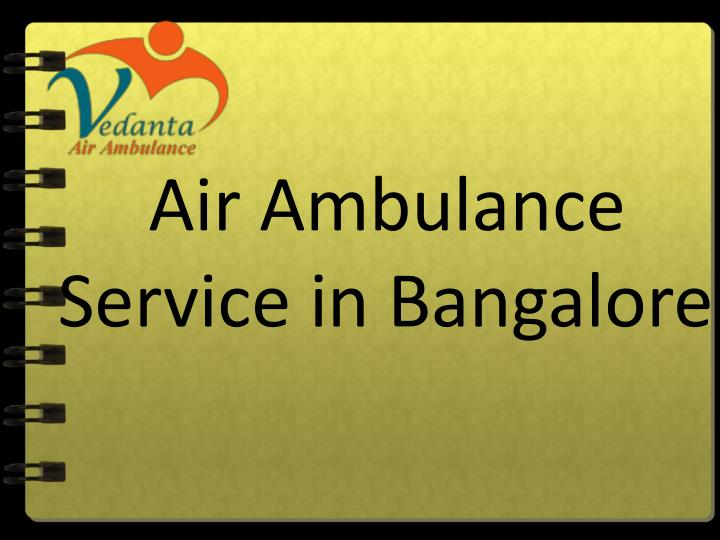 air ambulance service in bangalore n.