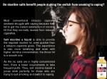 do nicotine salts benefit people making