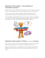 business model number 1 info products