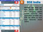 bseindia app helps you keep abreast with the ever