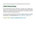 short record of loan repayment or devaluing
