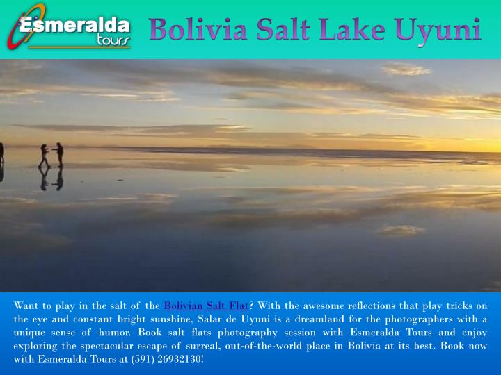 bolivia salt lake uyuni n.