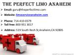 the perfect limo anaheim