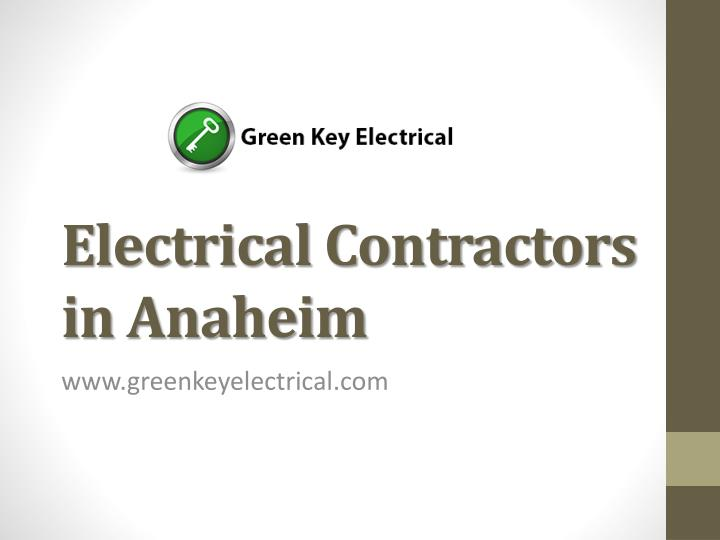 electrical contractors in anaheim n.