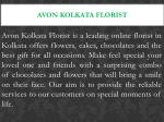 avon kolkata florist