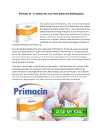 primacin xl it relieves the user from joints