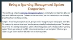 doing a learning management system comparison