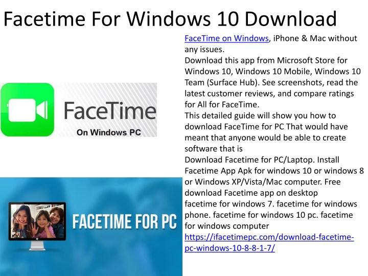 facetime for windows 10 download n.