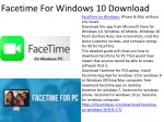 facetime for windows 10 download