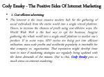 cody emsky the positive sides of internet marketing 2