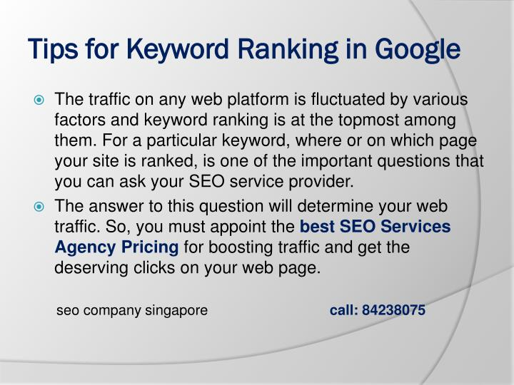 tips for keyword ranking in google n.