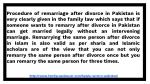 procedure of remarriage after divorce in pakistan