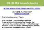 hcs 446 edu successful learning 2