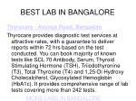 best lab in bangalore