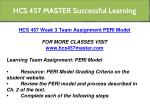 hcs 457 master successful learning 10