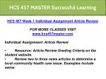hcs 457 master successful learning 3