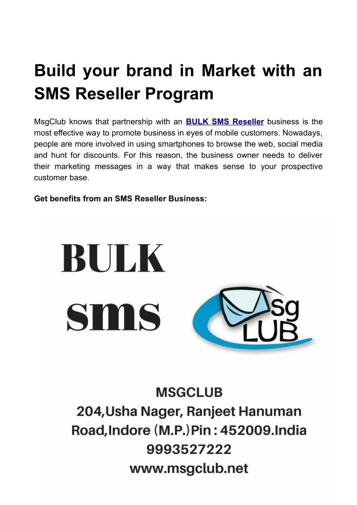 build your brand in market with an sms reseller n.