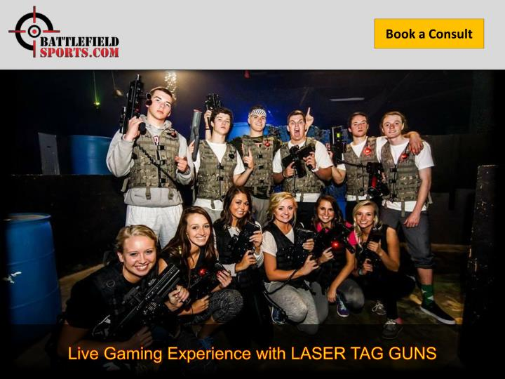 live gaming experience with laser tag guns n.